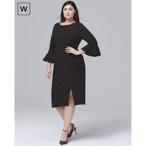 WHBM Body Perfecting Ruffle Sleeve Sheath Dress